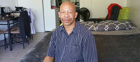 Lawrence, a formerly homeless resident of Pathlight HOME, shares his story of addiction and recovery