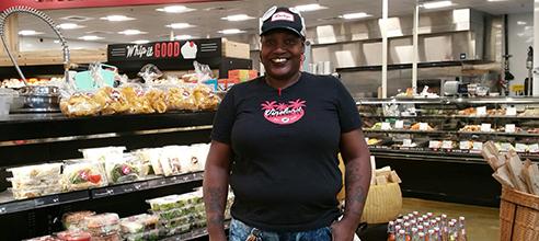 Pathlight Kitchen Graduate Deborah at Lucky's Market Orlando