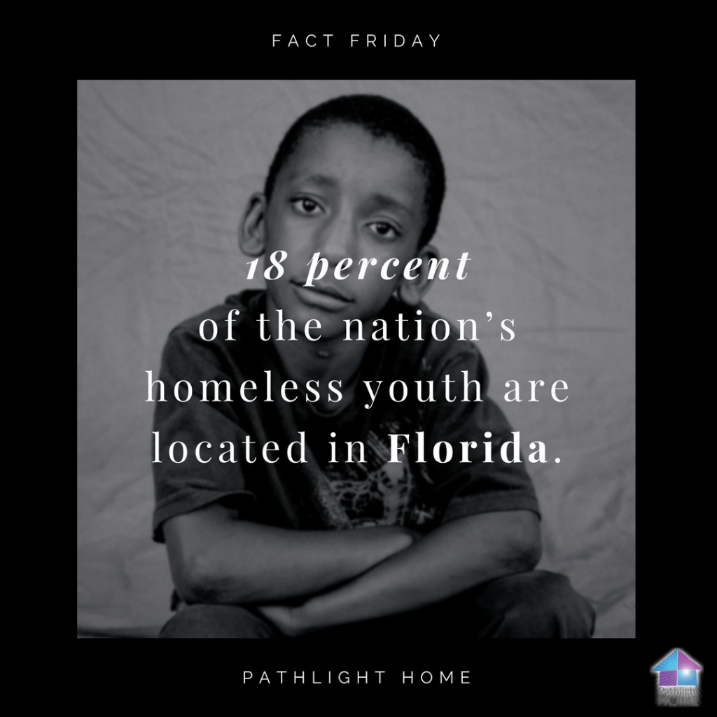 18 percent of the nation's homeless youth live in Florida