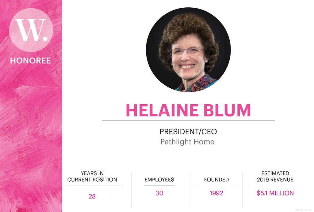 Helaine Blum, CEO of Pathlight HOME, was nominated for the Orlando Business Journal's Women Who Mean Business Awards
