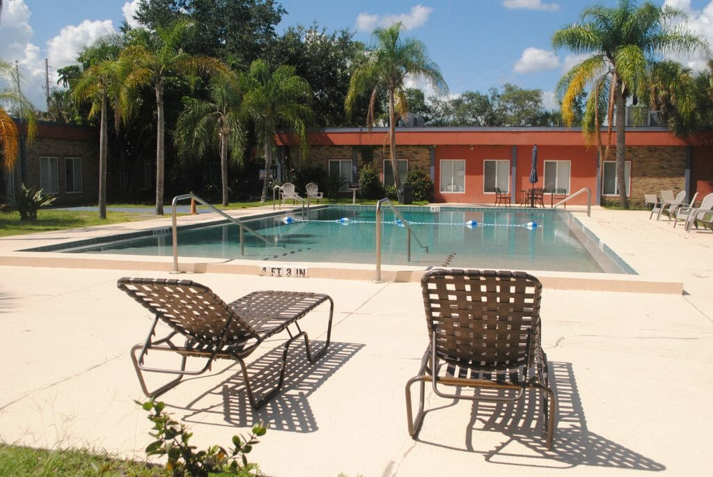 Photo of the pool area at Maxwell Garden Apartments at Pathlight HOME