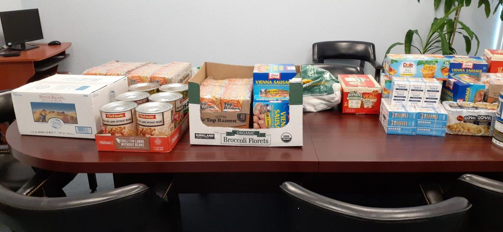 Food donated to Pathlight Home for the Food Pantry