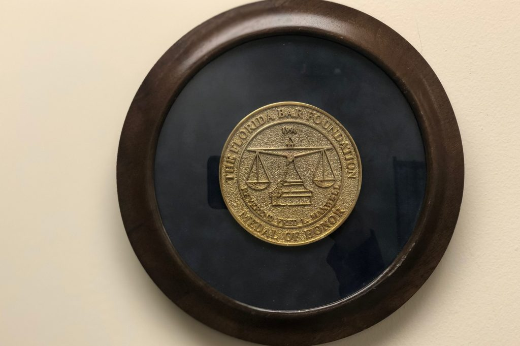 1998 Florida Bar Foundation Medal of Honor for Rev. Fred L. Maxwell
